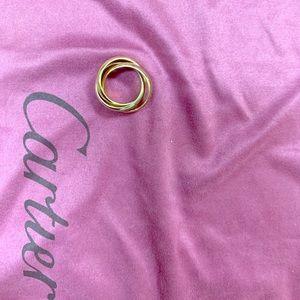 Cartier trinity ring 750 tri-color
